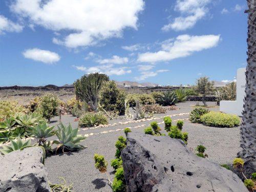 Lanzarote Ferienhaus Casa Azul Gartenblick