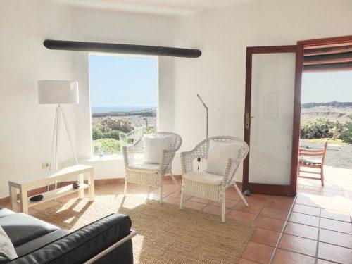 Lanzarote Ferienhaus Casa Blanca Wohnbereich