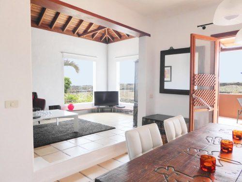 Lanzarote Ferienhaus Miramar Casa Wohnbereich