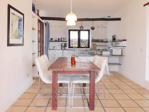 Lanzarote Ferienhaus Miramar Casa Essbereich Küche