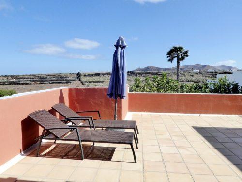 Lanzarote Ferienhaus Miramar Casa Terrasse