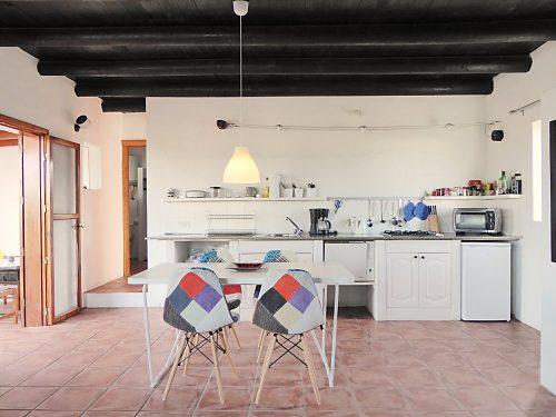 Lanzarote Ferienhaus Miramar Casita Essbereich Küche