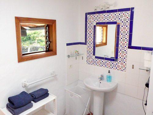 Lanzarote Ferienhaus Miramar Casita Bad