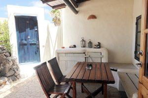 Lanzarote Ferienwohnung El Campo Terrasse Sitzplatz