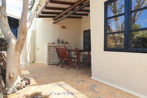 Lanzarote Ferienwohnung El Campo Terrasse Pergola
