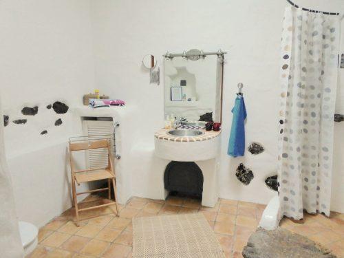 Lanzarote Ferienwohnung El Patio Badezimmer